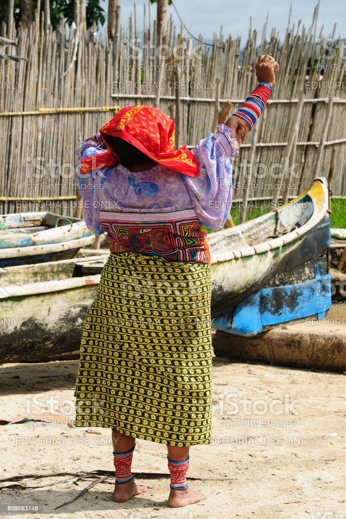 Traditional Kuna people stock photo