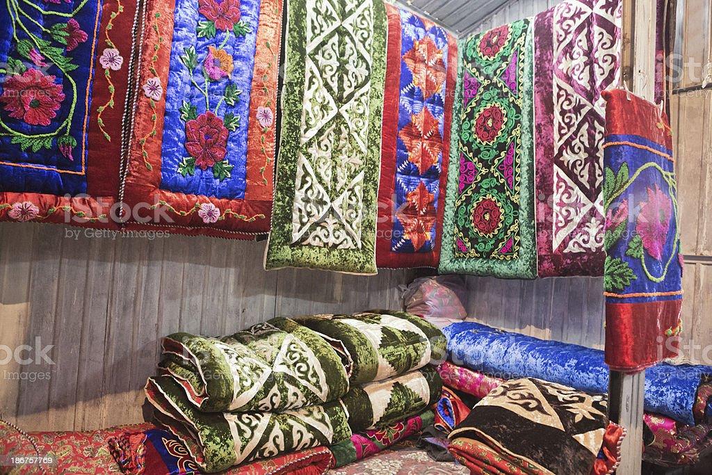 Traditional Kyrgyz Blankets stock photo