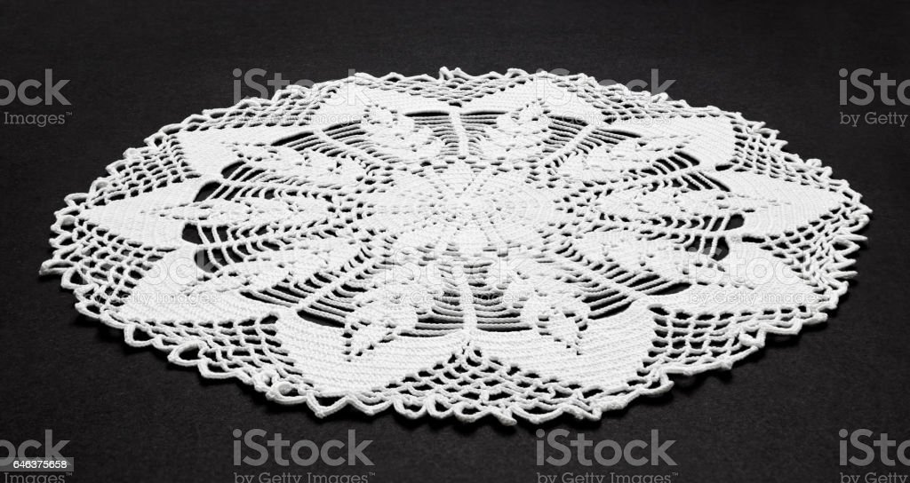 Traditional lace work stock photo