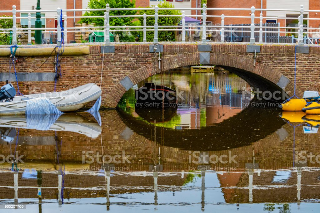 Traditional landscape in the village of Alkmaar. netherlands holland royalty-free stock photo