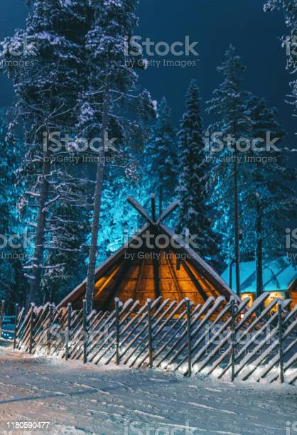 Photo of A traditional Lapland shelter (Lavvu) Lapland, Finland