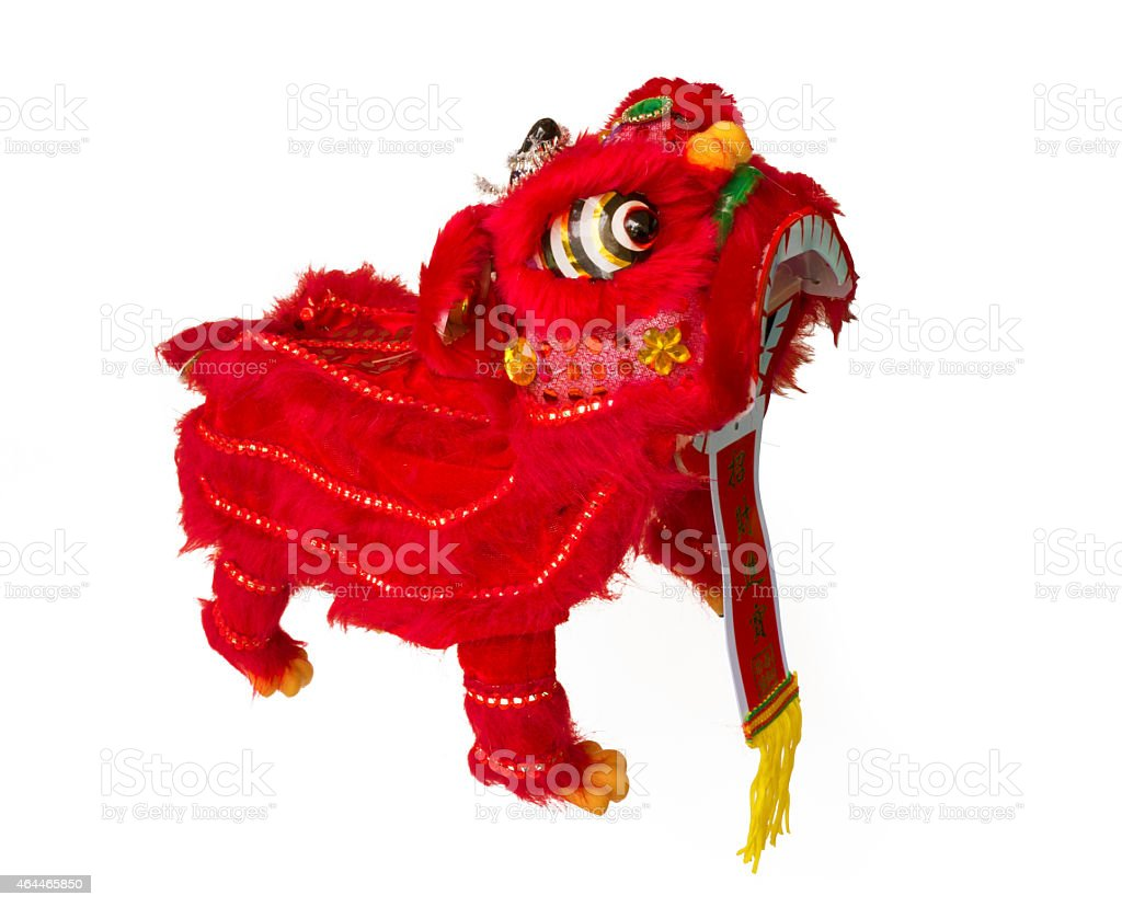Traditional Lion Dance royalty-free stock photo