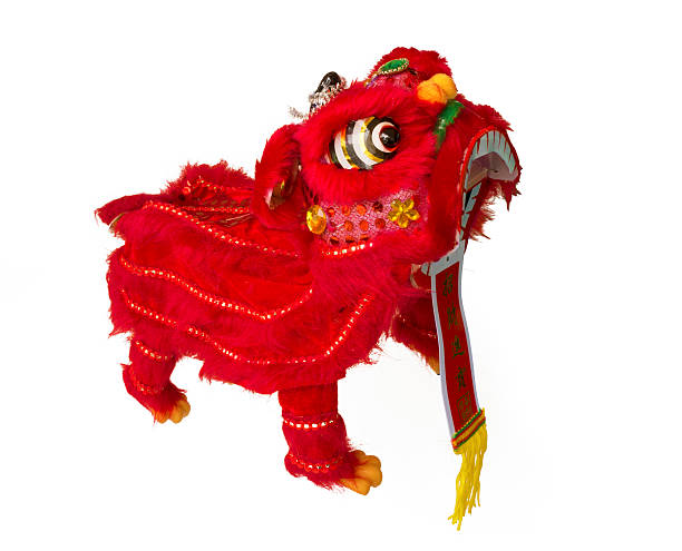 Traditional Lion Dance stock photo