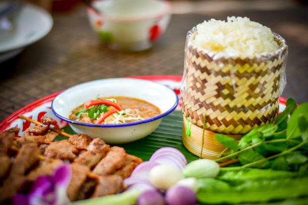 Traditional local northeast food of Thailand stock photo