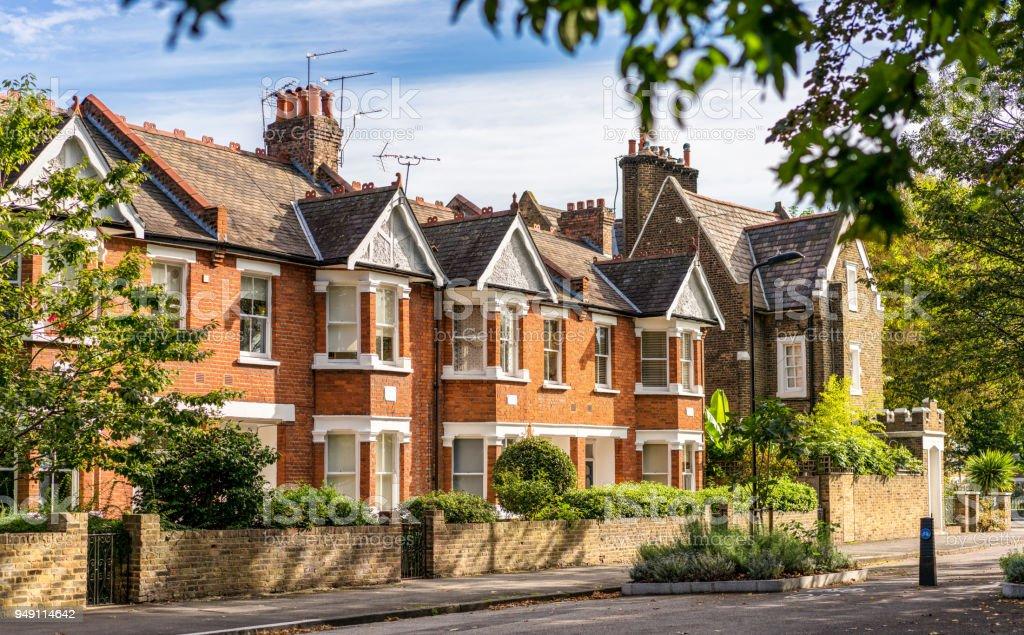 Casas Tradicionales De Londres En Terrazas Foto De Stock Y