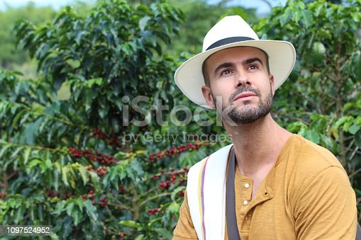 istock Traditional looking south American coffee entrepreneur 1097524952