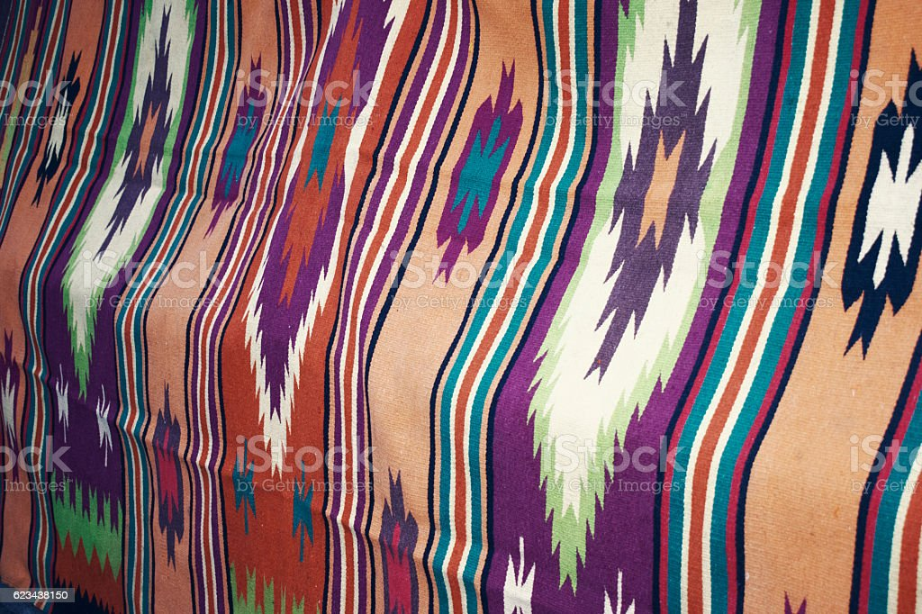 Traditional loom handmade carpets stock photo