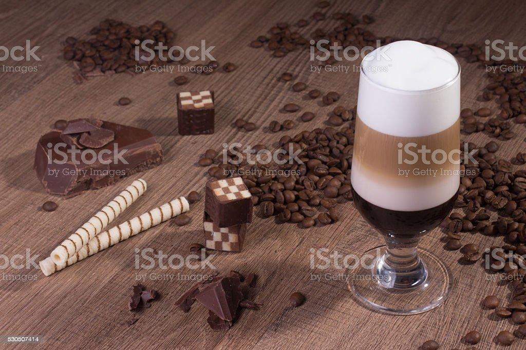 Traditional Machiato Coffee stock photo
