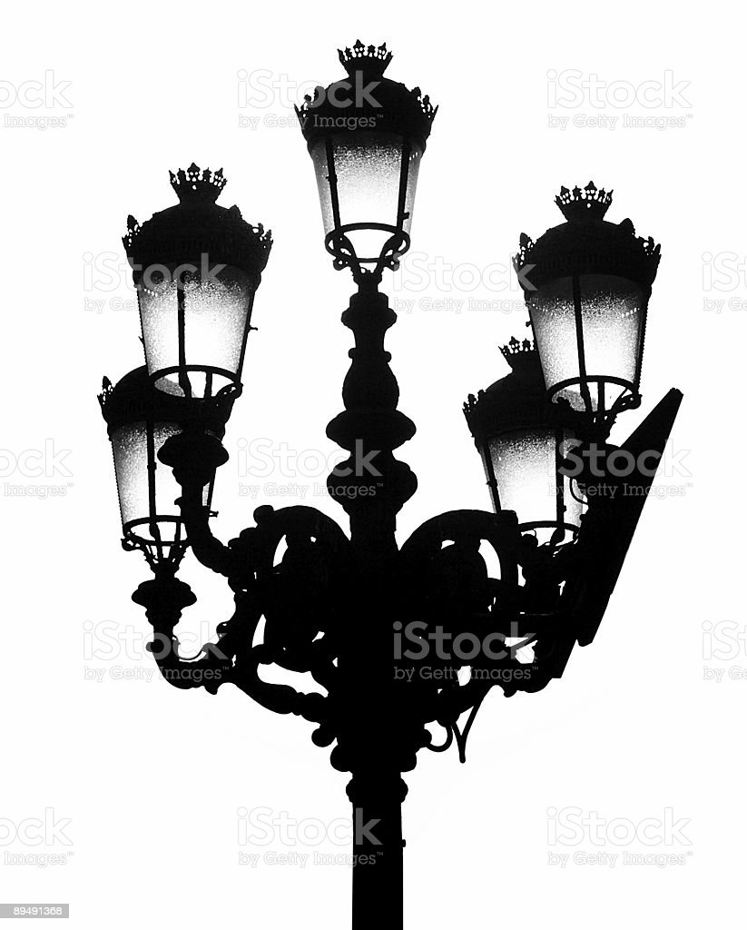 Traditional Madrid street light stock photo