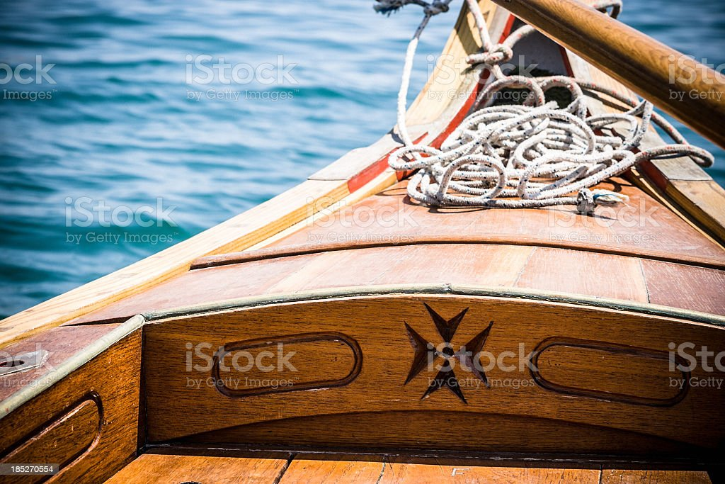 Traditional Maltese Boats stock photo