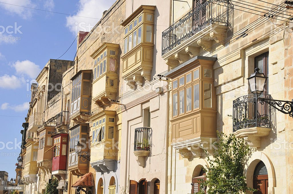 Traditional Maltese street stock photo