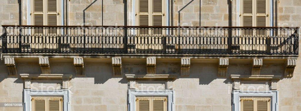 Traditionelle maltesische Fenster - Lizenzfrei Alt Stock-Foto