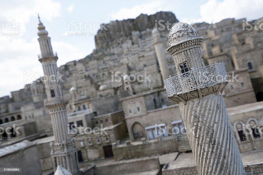 Traditional Mardin Houses Miniature stock photo