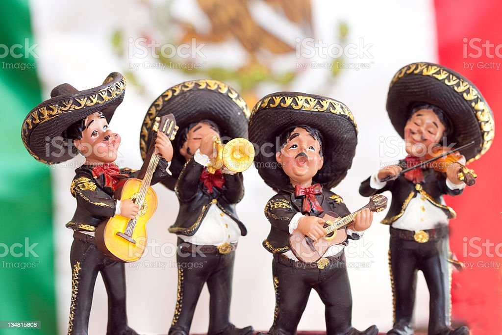 Traditional mariachi Band royalty-free stock photo