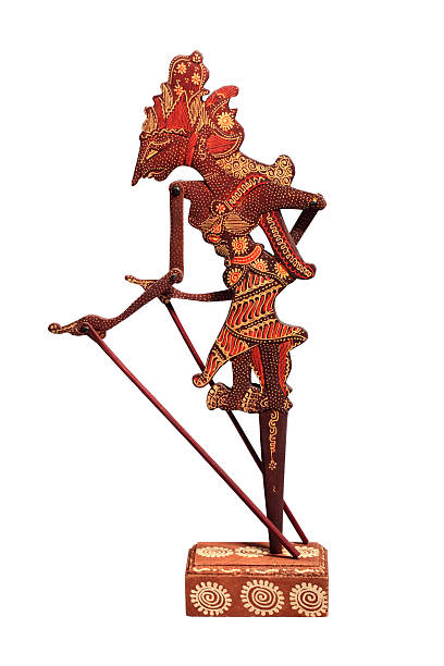 traditional marionette wayang kulit. indonesia - wayang kulit stock photos and pictures