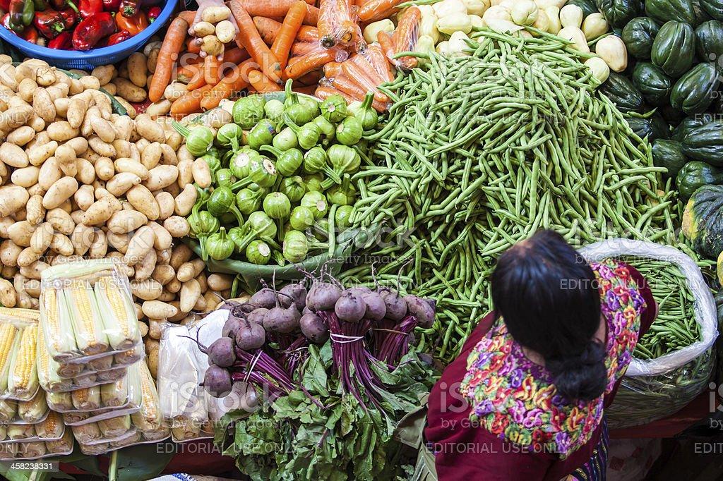Traditional market in Guatemala, Chichi royalty-free stock photo