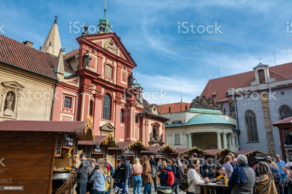 Traditional market in Prague - Royalty-free Architecture Stock Photo