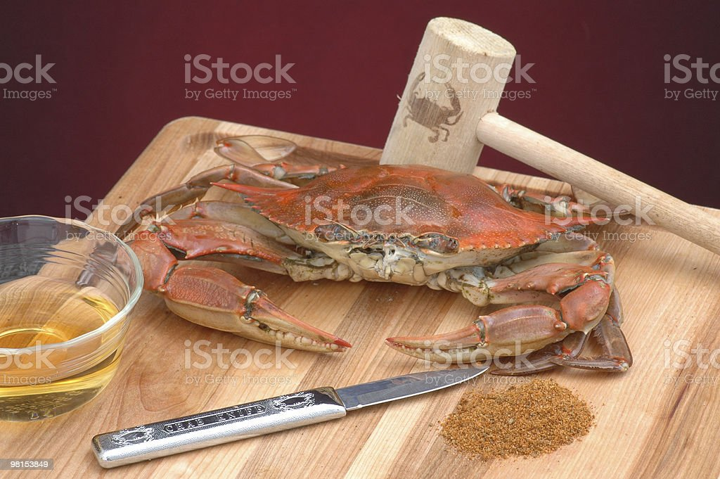 Traditional Maryland Steamed Blue Crab royalty-free stock photo