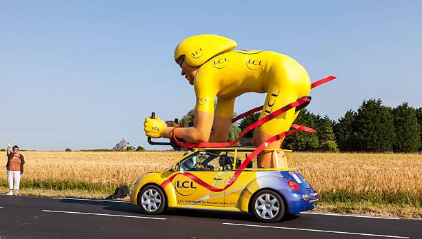Traditional Mascot of Publicity Caravan stock photo