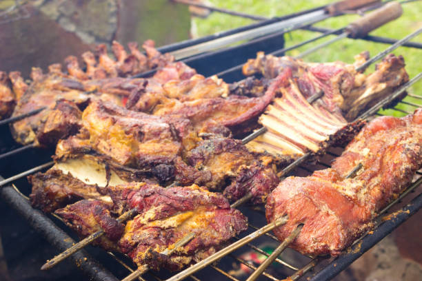 Traditional meat from southern america stock photo