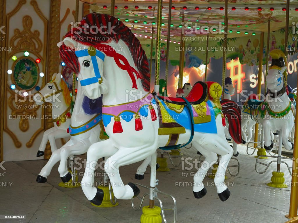 Traditional Merrygoround Carousel Horses Stock Photo Download Image Now Istock