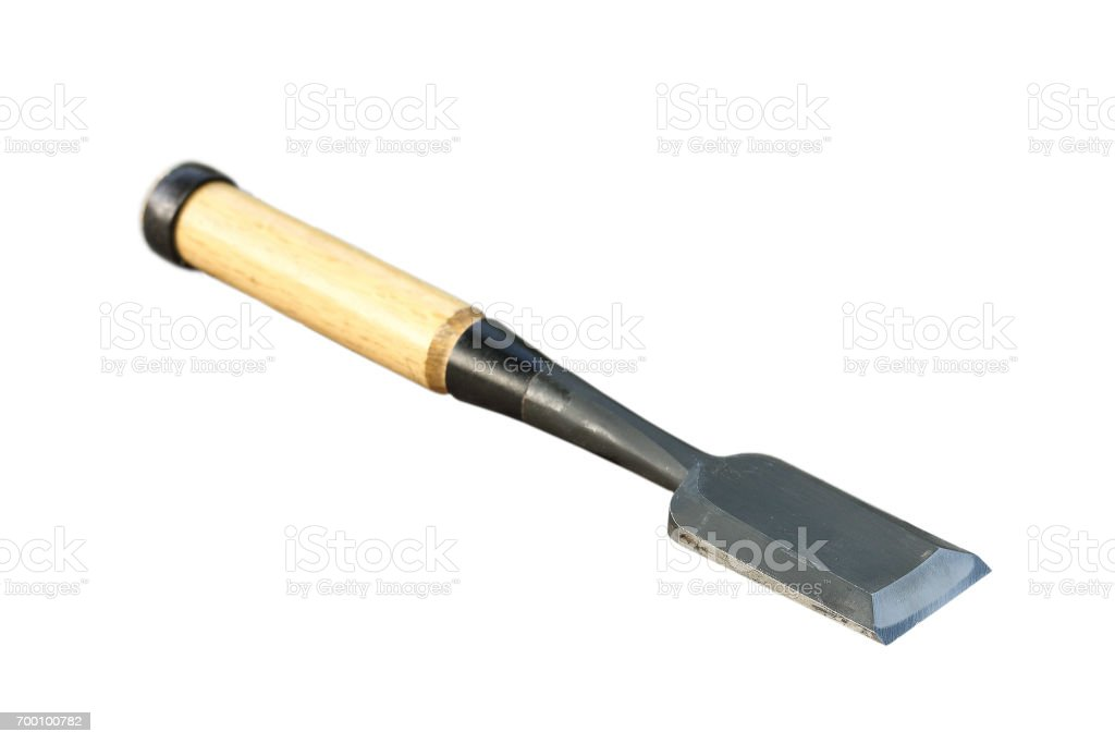 traditional metallic gouge stock photo