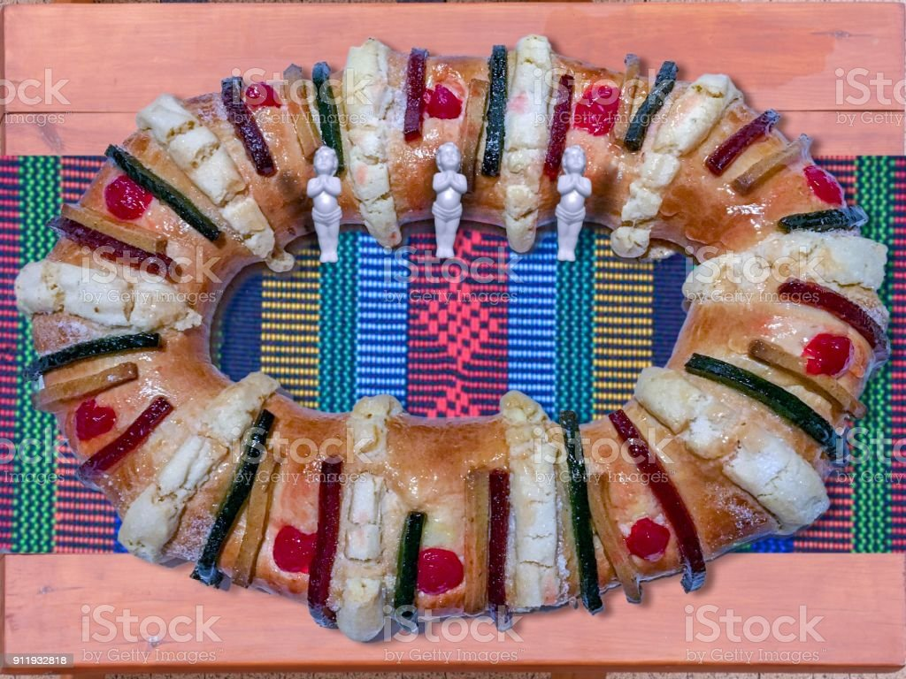 Traditional mexican bread stock photo