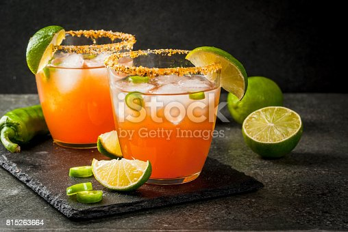 istock Traditional Mexican cocktail Spicy michelada 815263664
