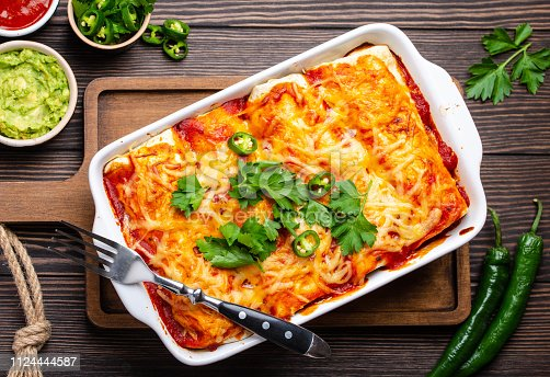 istock Traditional Mexican enchiladas 1124444587