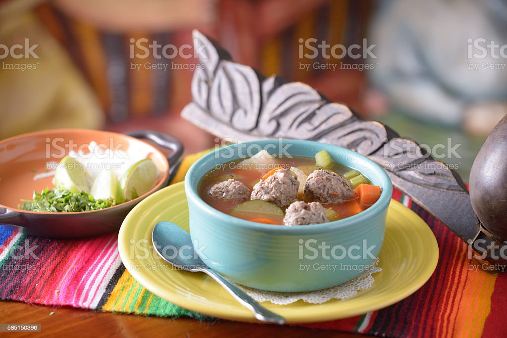 Traditional Mexican food mexican soup stock photo