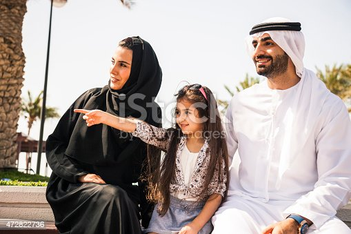 472869308 istock photo Traditional middle eastern young family enjoying weekend 472822736