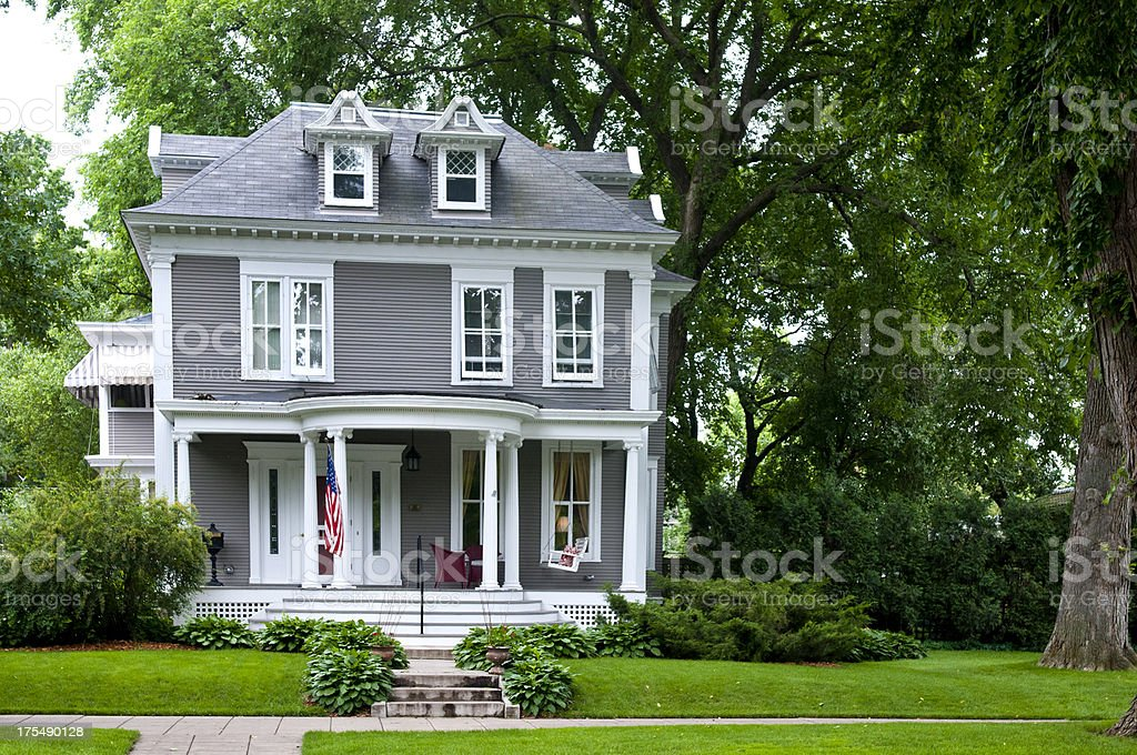 Traditional Midwest Home stock photo