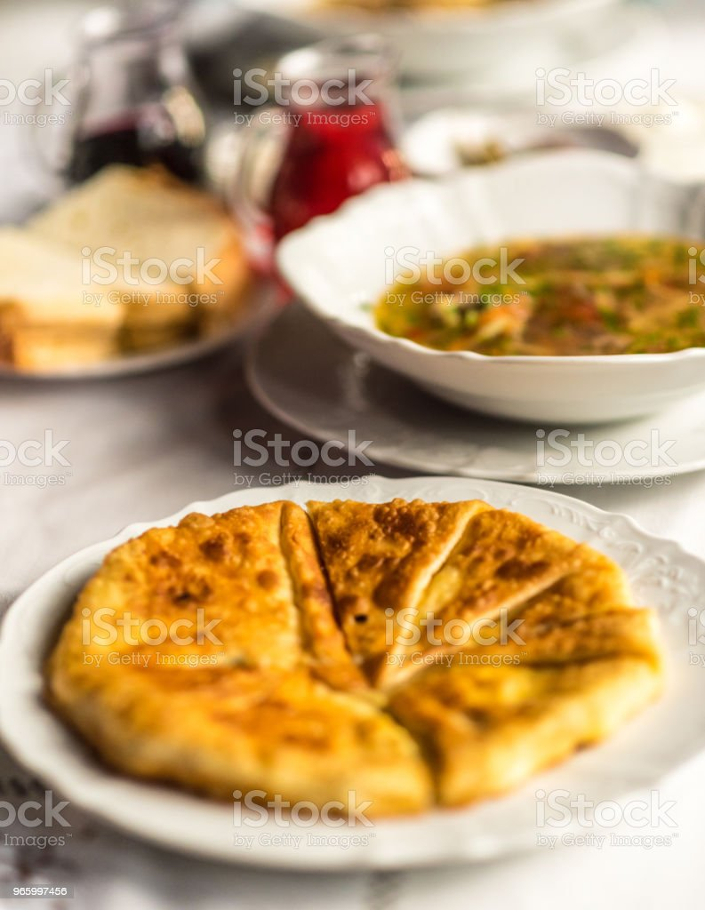 Traditional Moldovian Pastry or Pie, called Placinta - Royalty-free Appetizer Stock Photo