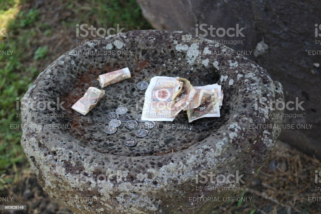 Traditional monetary offering stock photo