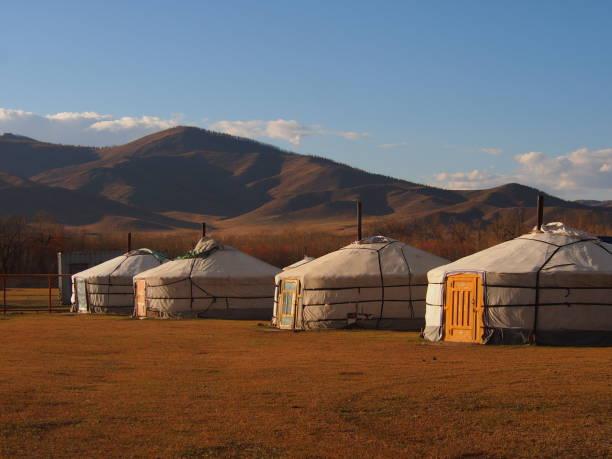 Traditional Mongolian Gers stock photo