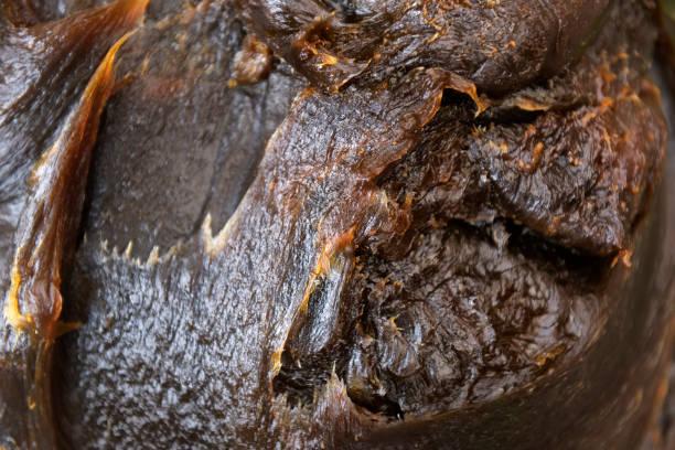 Traditional moroccan black soap. stock photo