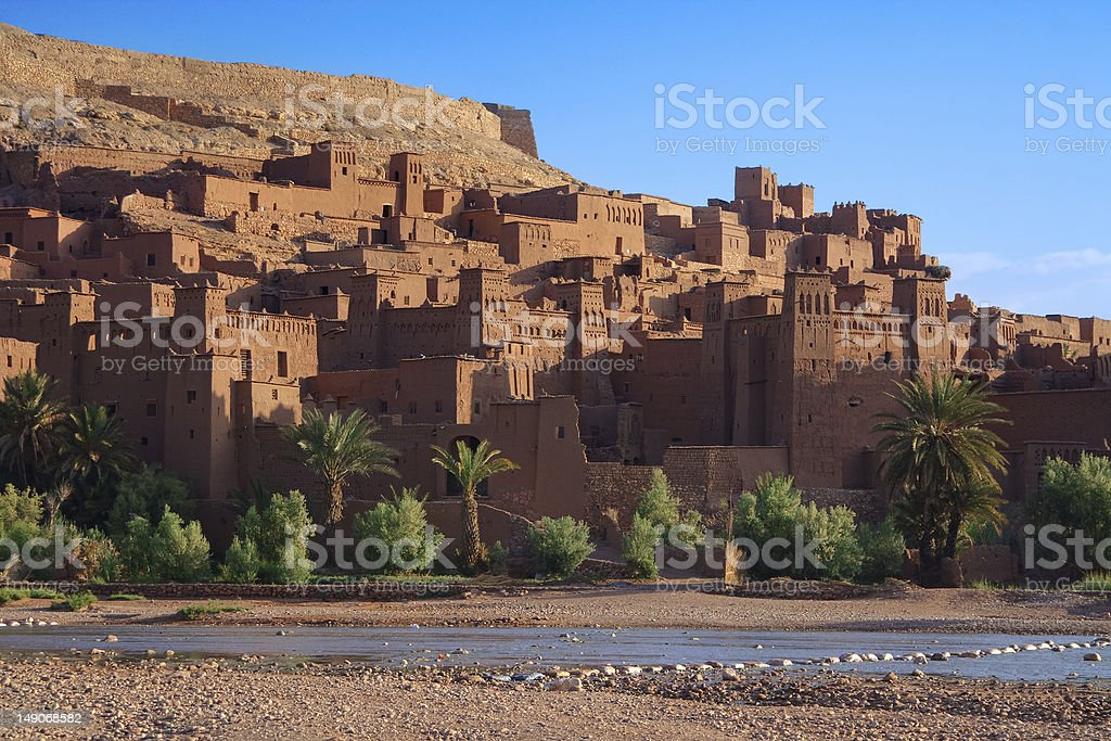 traditional Moroccan Casbah royalty-free stock photo