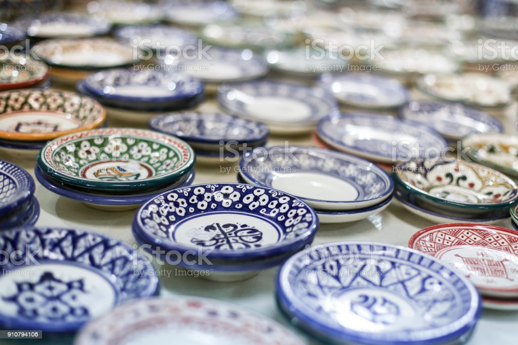 Traditional Moroccan ceramic plates and bowls royalty-free stock photo & Traditional Moroccan Ceramic Plates And Bowls Stock Photo u0026 More ...