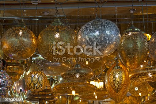 994119256istockphoto Traditional Moroccan crafted lamps 1097082638