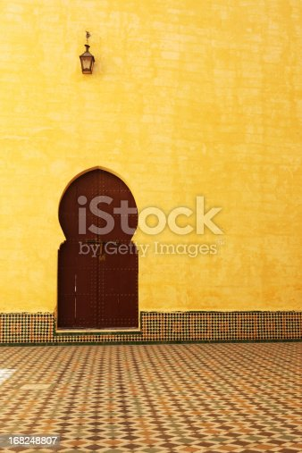 istock Traditional Moroccan Door inside the Mausoleum of Moulay Ismail 168248807