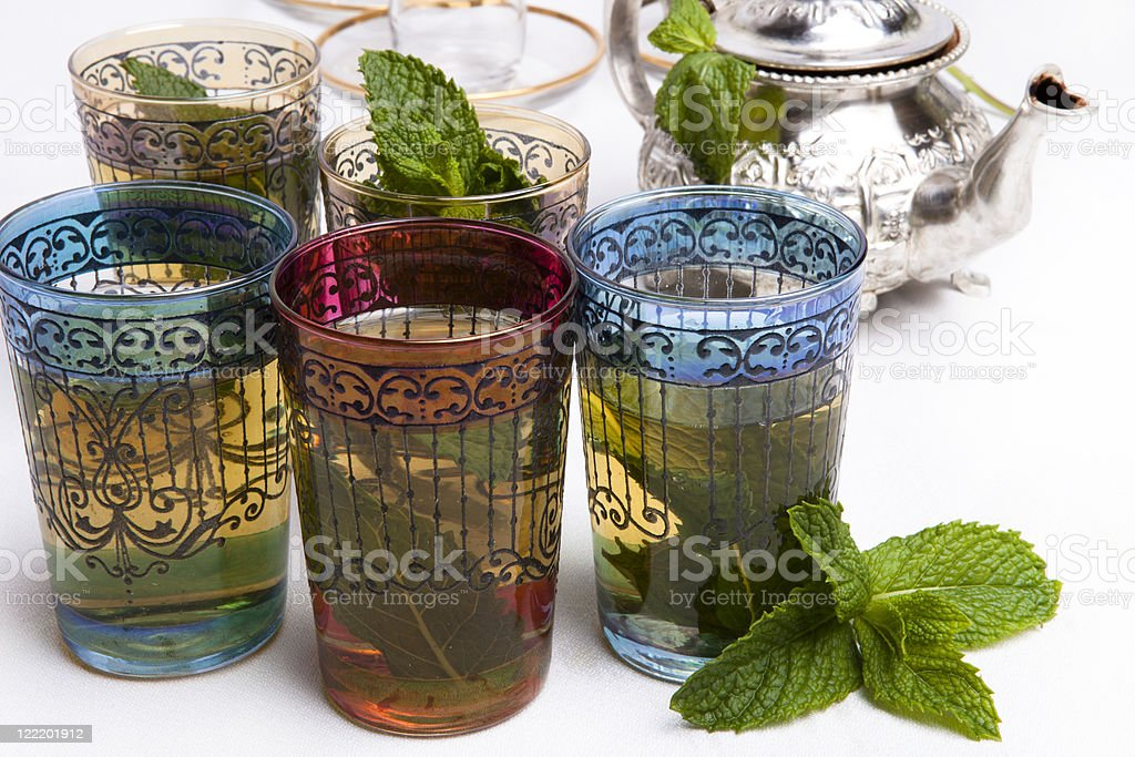 Traditional Moroccan mint tea royalty-free stock photo