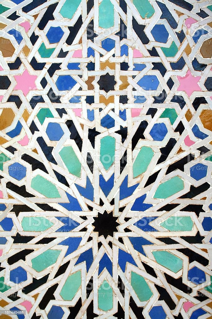 Traditional mosaic of Morocco royalty-free stock photo