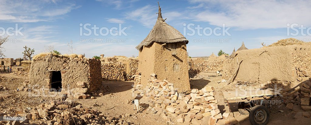 Traditional Mud Brick houses, Dogon Country stock photo