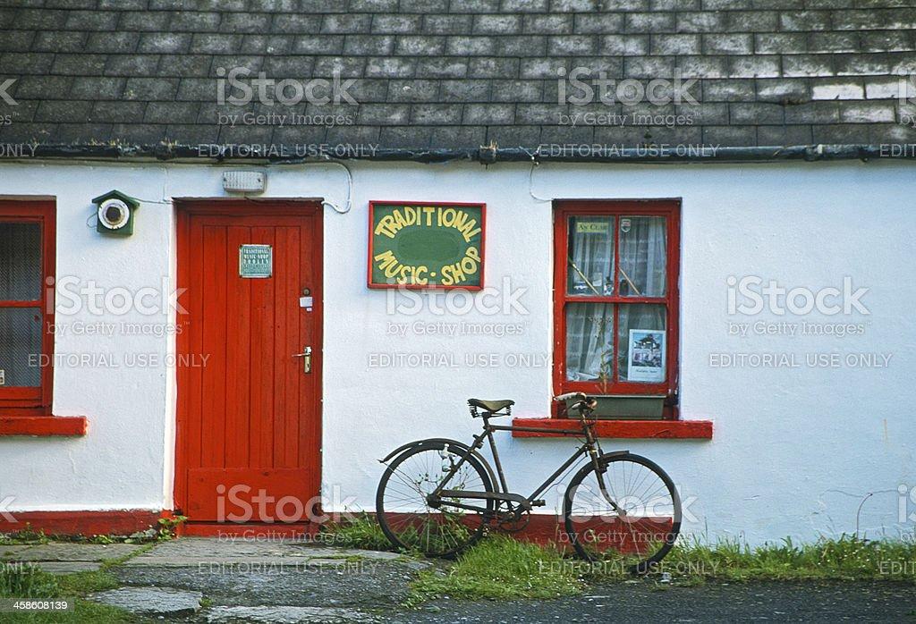 Traditional Music Shop - Ireland stock photo