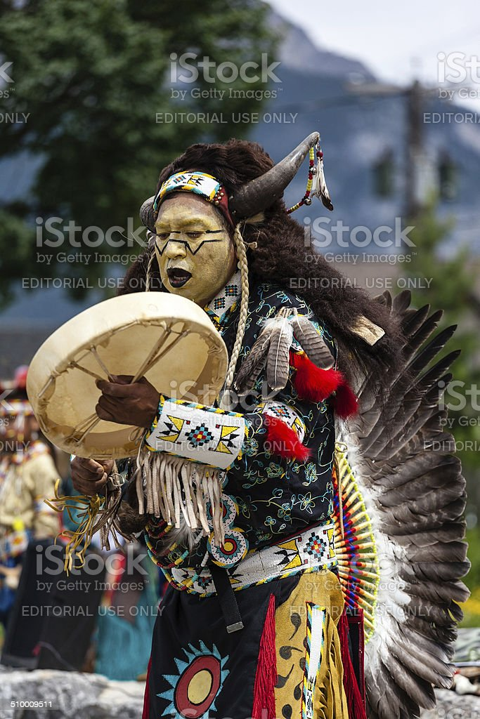 Traditional Native American Dancer stock photo