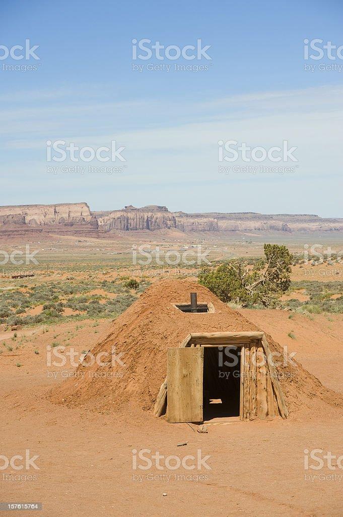 Traditional Navajo Hogan royalty-free stock photo