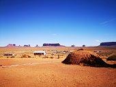13 october 2018 - Oljato, Arizona. USA: Traditional Navajo house, known as a hogan, in Monument Valley, Arizona. USA