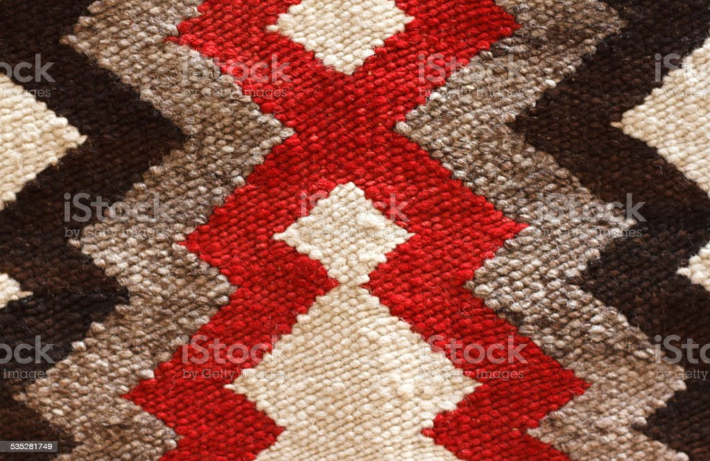 Traditional Navajo Rug Detail (Close-Up) stock photo