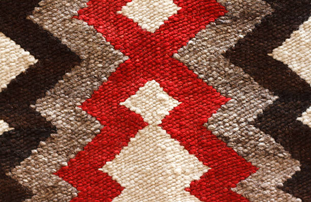 traditional navajo rug detail (close-up) - navajo culture stock photos and pictures