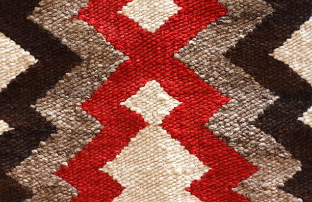 Traditional Navajo Rug Detail (Close-Up) stock photo